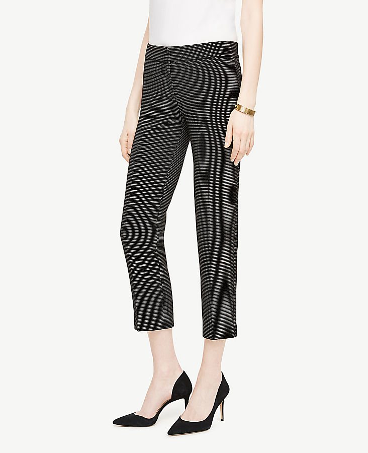 The Tall Ankle Pant in Pindot | Tuggl