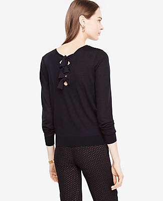 Ann Taylor Bow Back Sweater