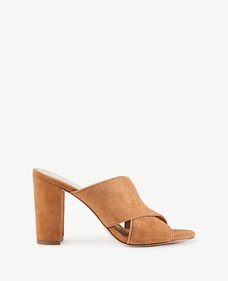 Jeanette Suede Heeled Sandals | Tuggl