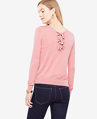 Ann Taylor Petite Bow Back Sweater