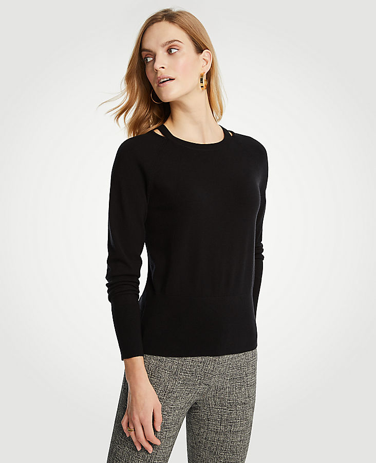 Shoulder Cutout Sweater | Tuggl