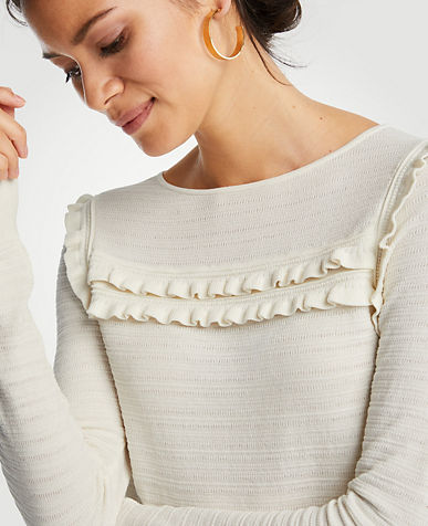 Ruffle Stitch Sweater
