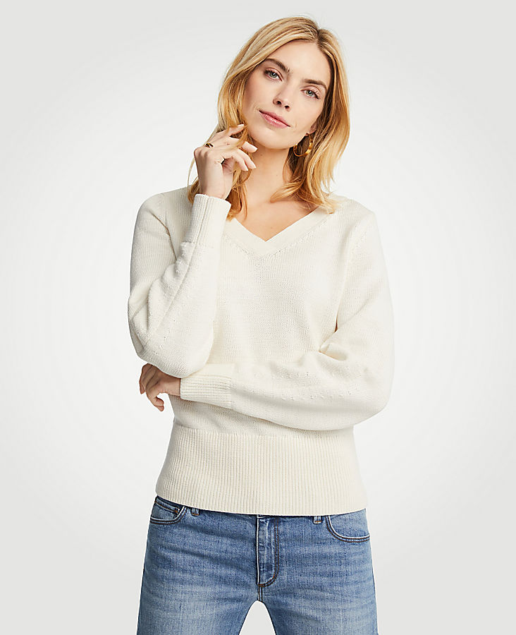 V-Neck Sweater at Ann Taylor in Victor, NY | Tuggl