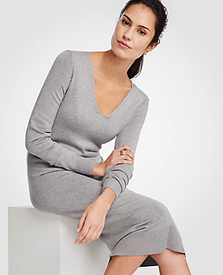 Ann Taylor Midi Sweater Dress