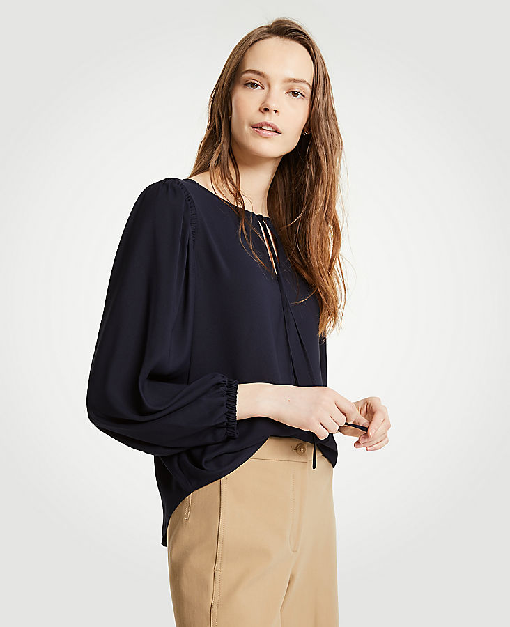 Shirred Shoulder Blouse | Tuggl