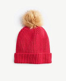 Ann Taylor Pom Pom Knit Hat 24073400