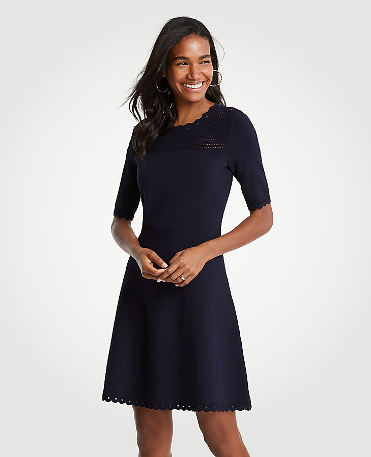 Cutout Flare Sweater Dress | Tuggl