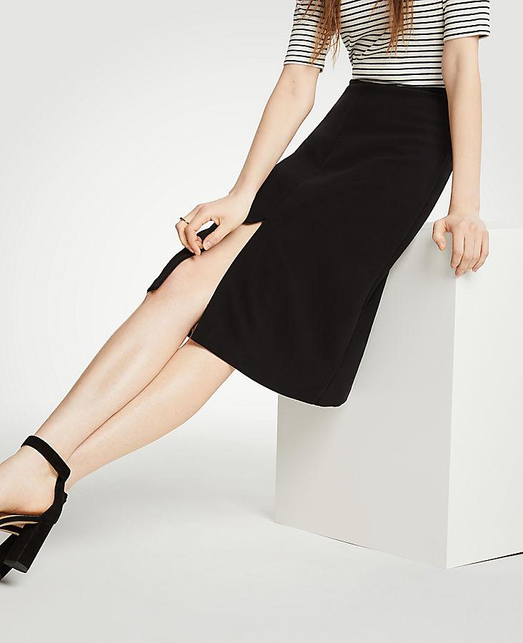 Doubleweave A-Line Skirt | Tuggl