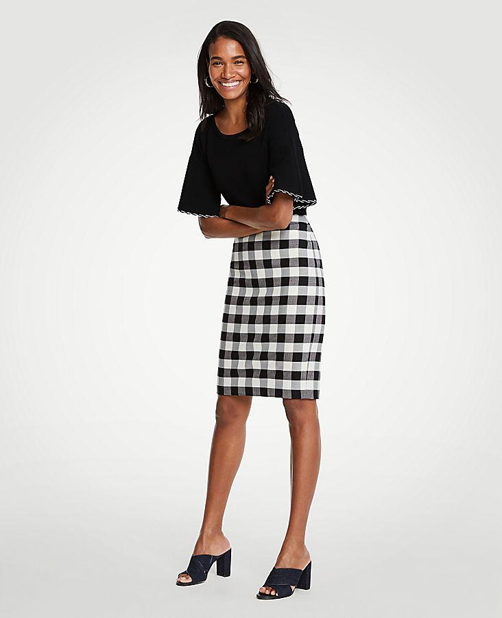 Gingham Pencil Skirt | Tuggl