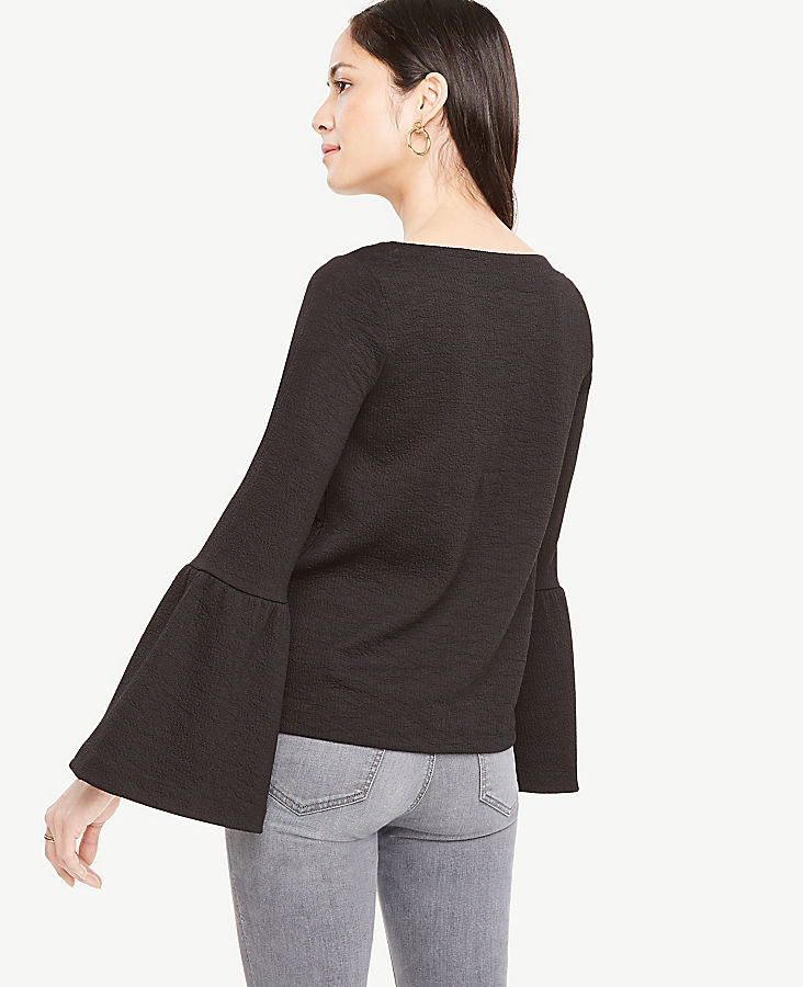 Petite Flare Sleeve Knit Top