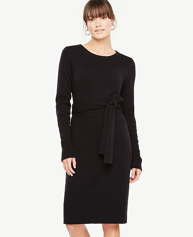 Belted Sweater Dress | Tuggl