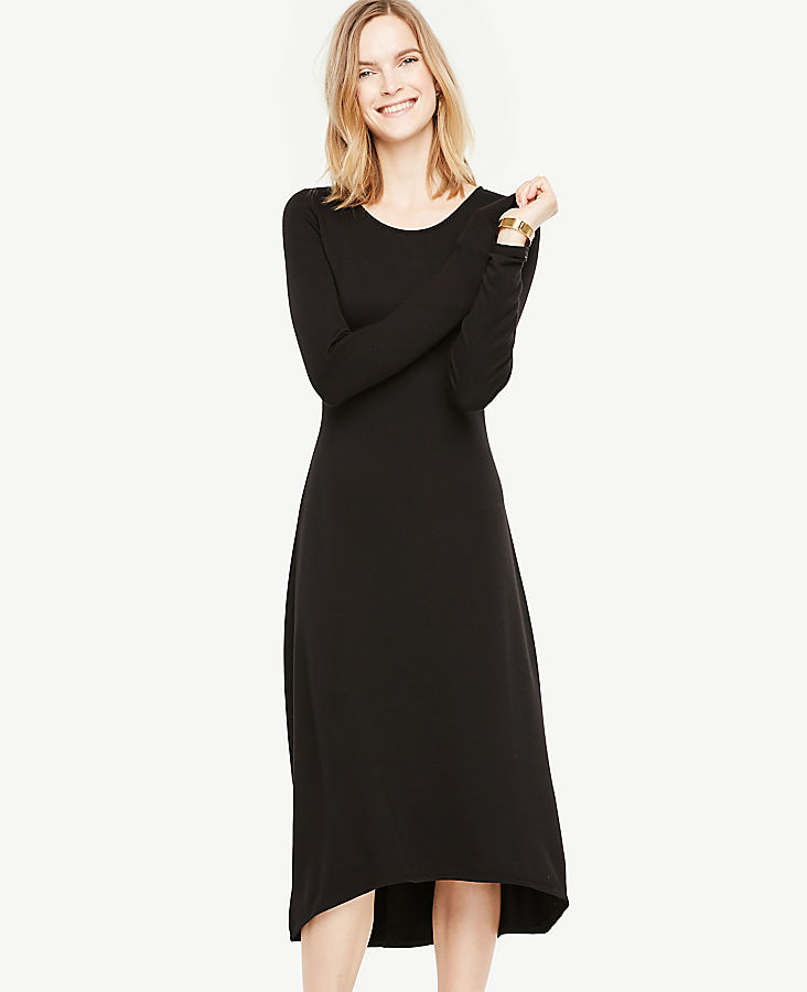 Petite Elliptical Hem Midi Dress | Tuggl