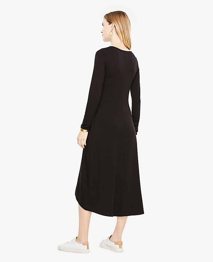 Petite Elliptical Hem Midi Dress