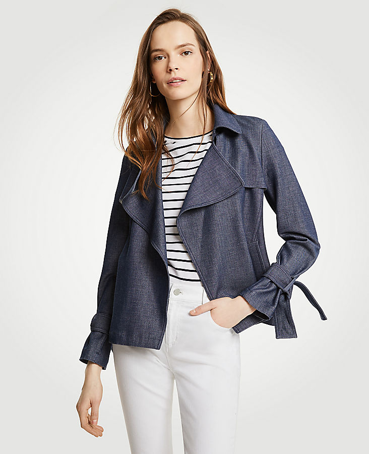 Chambray Trench Coat | Tuggl