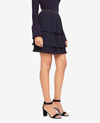 Ann Taylor Petite Tiered Chiffon Ruffle Skirt