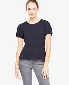 Ann Taylor Structured Bubble Sleeve Top