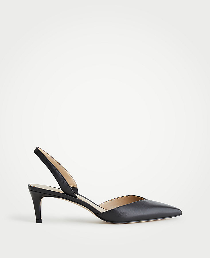Elora Leather Slingback Pumps | Tuggl