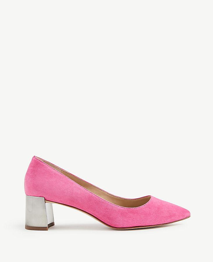 Bette Suede Block Heel Pumps | Tuggl