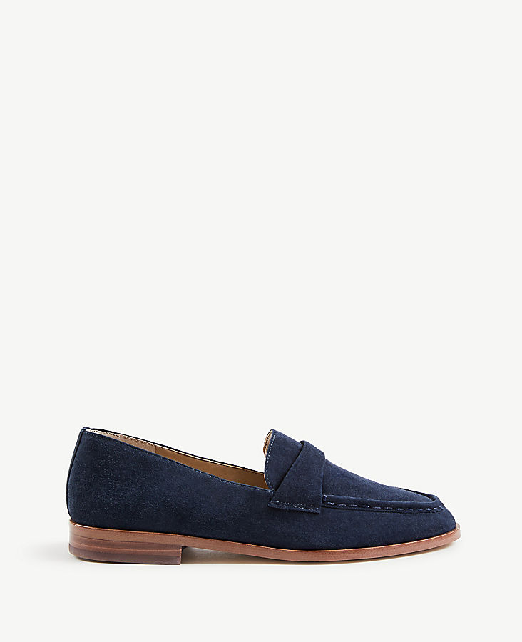 Audriana Suede Loafers | Tuggl