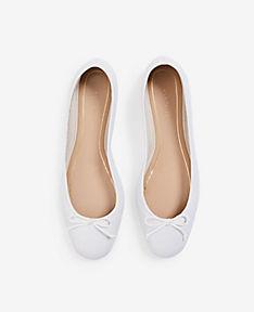 ANN TAYLOR Matilde Leather Ballet Flats xBKikY