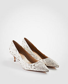 ANN TAYLOR Reese Exotic Embossed Leather Pumps WWwv5mhB