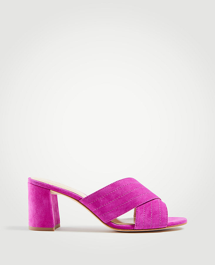 Honor Suede Heeled Sandals | Tuggl