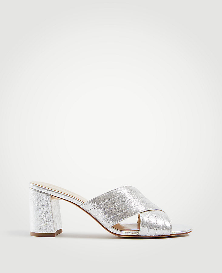 927e5e10774f Honor Metallic Leather Heeled Sandals