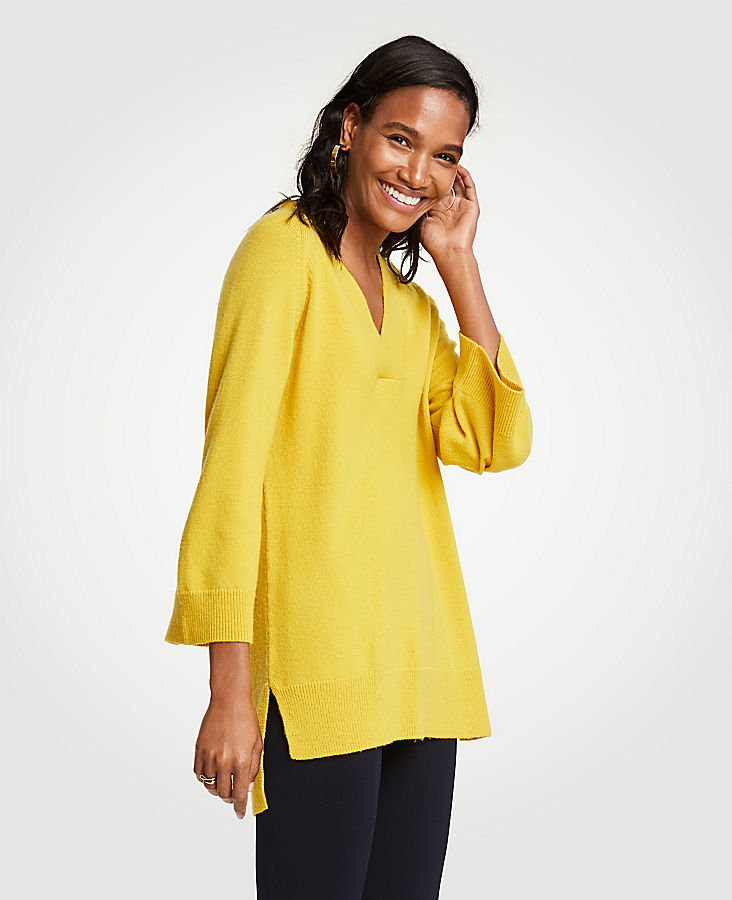 V-Neck Tunic Sweater at Ann Taylor in Victor, NY | Tuggl