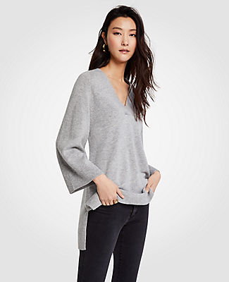Ann Taylor V-Neck Tunic Sweater 24582575
