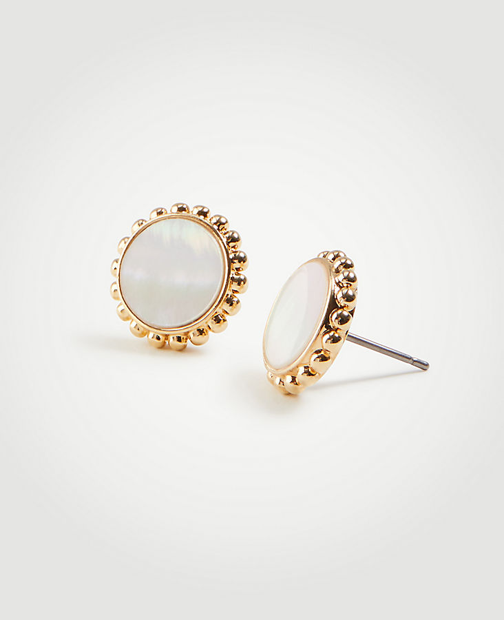 Mother Of Pearl Stud Earrings | Tuggl