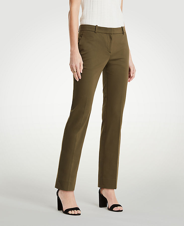 The Ankle Pant In Cotton Sateen | Tuggl