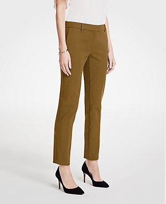 The Petite Ankle Pant In Dense Twill - Curvy Fit, Andalucian Olive