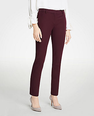 The Ankle Pant In Dense Twill - Curvy Fit, Classic Plum