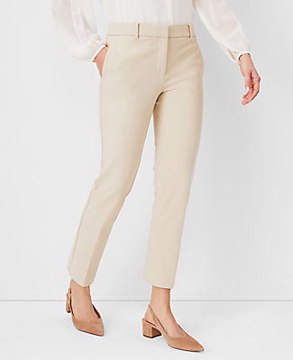 The Petite Straight Leg Pant In Linen Blend - Curvy Fit, Coastal Beige