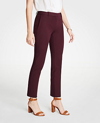 The Petite Ankle Pant In Dense Twill - Curvy Fit, Classic Plum