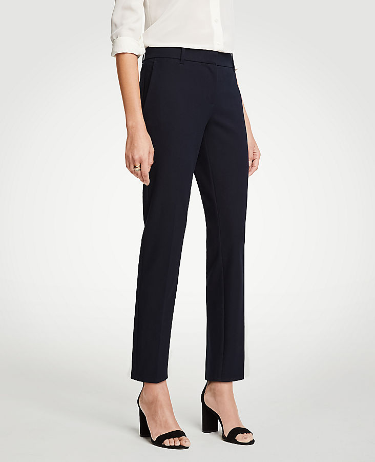 The Petite Ankle Pant In Dense Twill - Curvy Fit