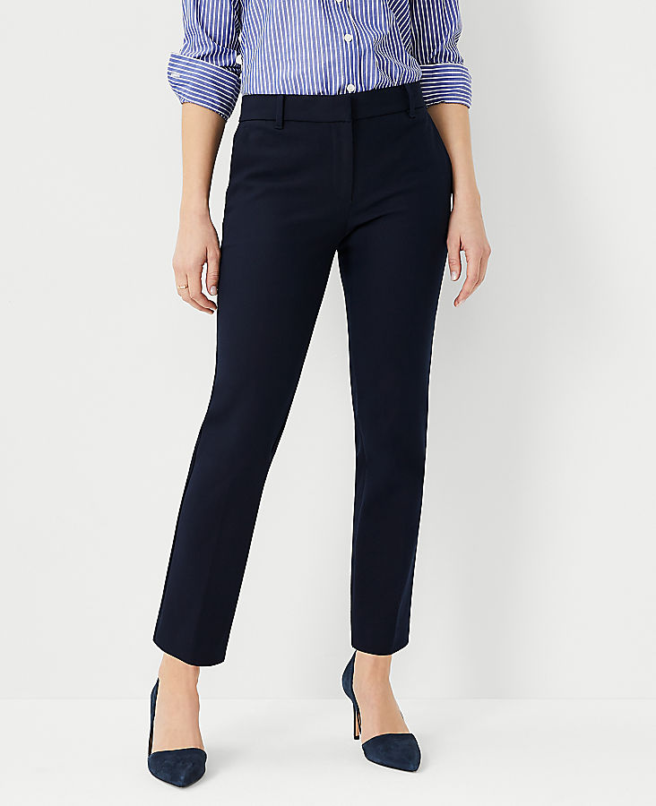 The Petite Ankle Pant In Dense Twill