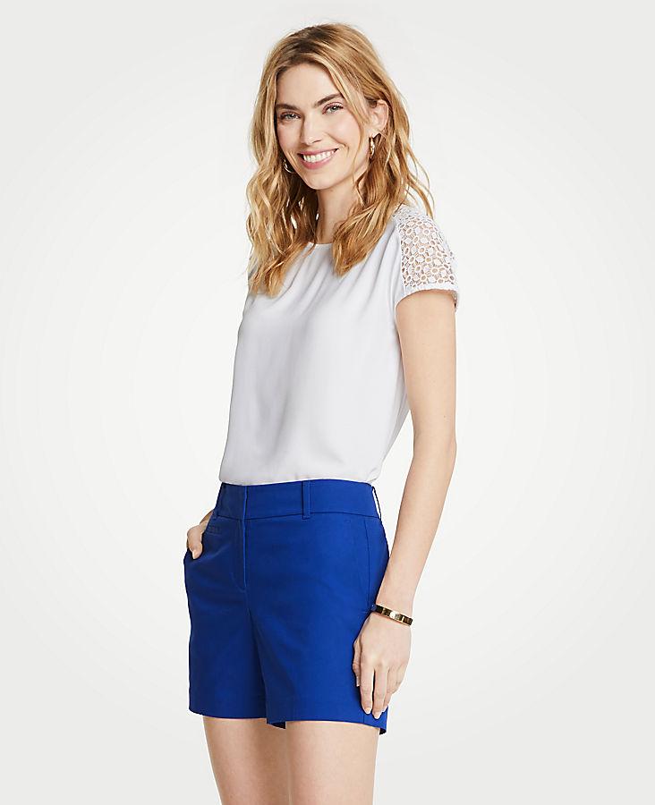 Cheap Online Cheap Sale Manchester Petite Cotton Metro Shorts ANN TAYLOR JiFfsDCw