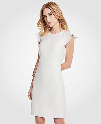 Ann Taylor Petite Flutter Sheath Dress 24863582