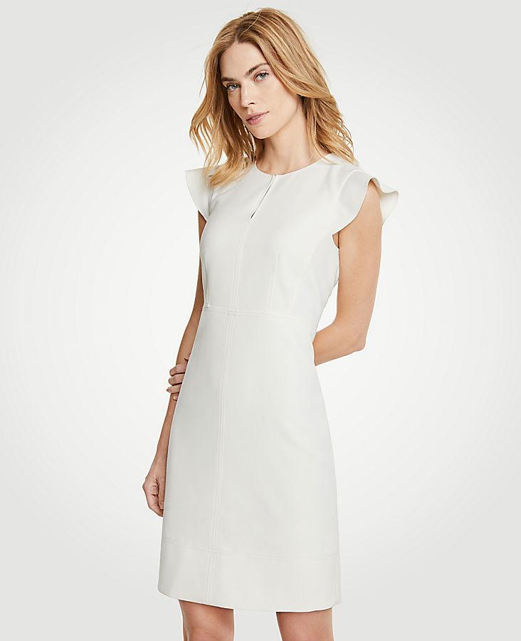 Petite Flutter Sheath Dress
