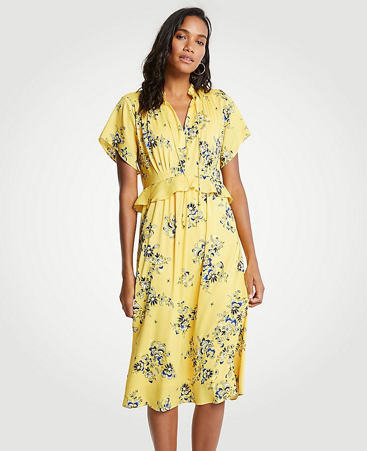 Petite Boho Floral Midi Dress