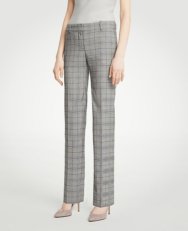 The Straight Leg Pant In Glen Plaid - Curvy Fit | Tuggl