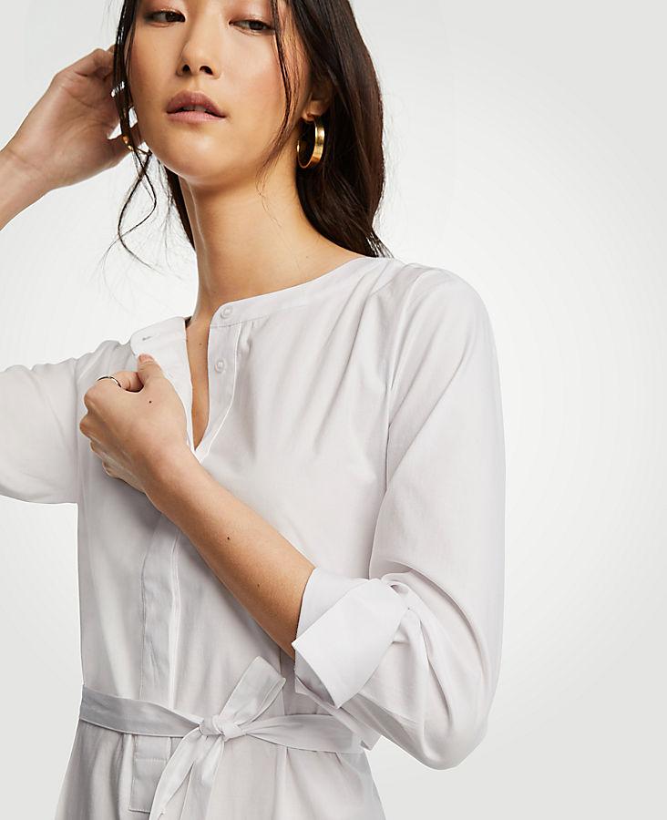Petite Belted Tunic Shirt