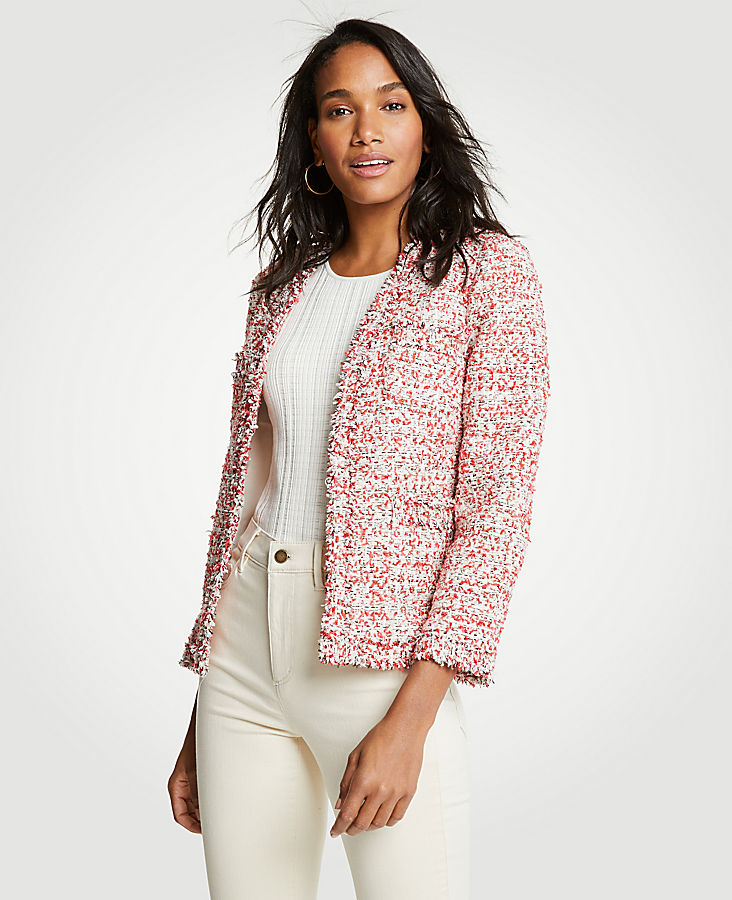 Petite Textured Tweed Cardigan Jacket