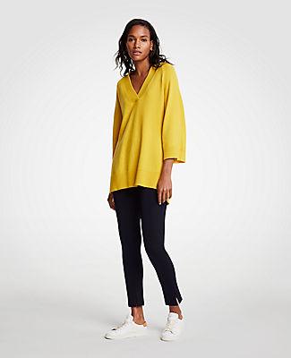 Ann Taylor Petite V-Neck Tunic Sweater 24584982