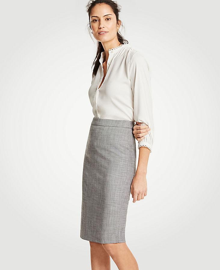 Petite Crosshatch Pencil Skirt | Tuggl