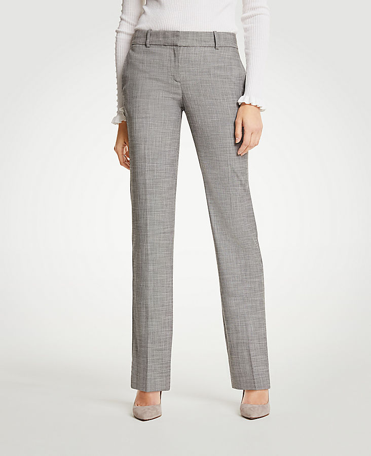The Petite Straight Leg Pant In Crosshatch | Tuggl