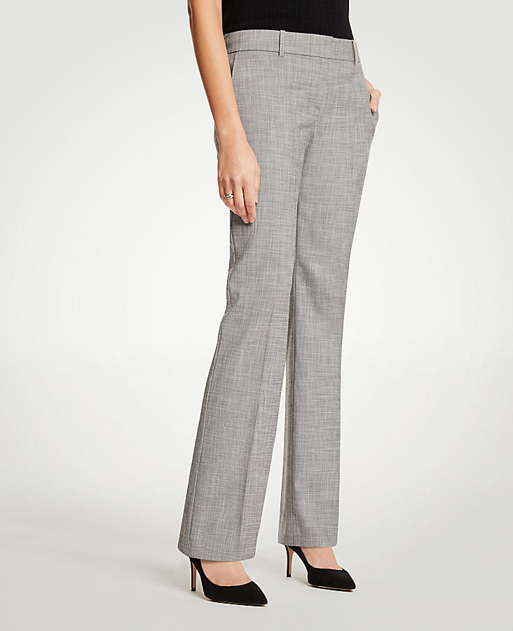 The Petite Straight Leg Pant In Crosshatch - Curvy Fit