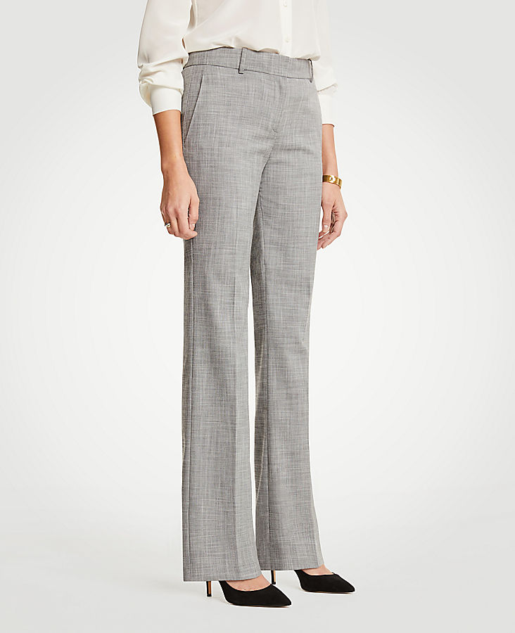 The Petite Trouser In Crosshatch - Classic Fit | Tuggl