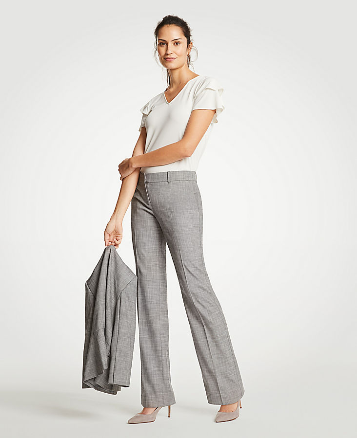 The Petite Trouser In Crosshatch | Tuggl